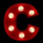 Glühende C — Stockfoto