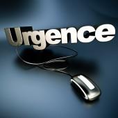 Online urgence in silver — Stockfoto