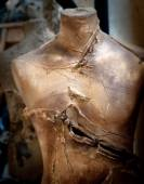 Old slashed mannequin — Stock Photo