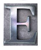 Typescript upper case E   letter — Stock Photo