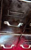 Vintage file cabinet — Stock Photo