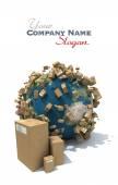 World deliveries — Foto de Stock