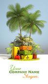 Travel island — Stock Photo