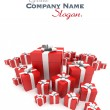 Red gift boxes surprise — Stockfoto #65901361