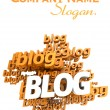 Blog orange — Stock Photo #65903525
