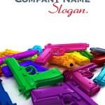 Multicolored guns — Stock Photo #65903691