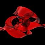 Abstract melting red ribbon — Stock Photo #65907325
