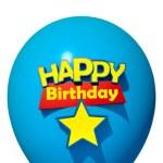 Happy Birthday blue balloon — Stock Photo #65908237