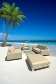 Living room on the beach — Stock Photo