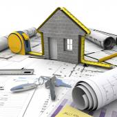 Home building process — Stock Photo