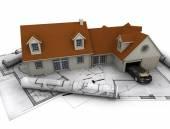 Huis plannen — Stockfoto