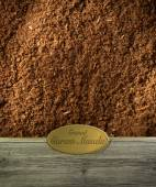 Ground Garam Masala labeled — Stock Photo