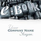 E-book in typescript close-up customizable — Stock Photo