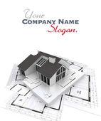 Home building process b customizable — 图库照片