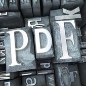 Pdf in typescript — Stock Photo