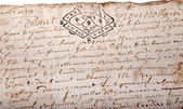 Ancient French official document — Stock Photo