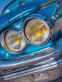 Retro blue car detail — Stock Photo