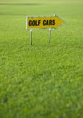 Golf cars sign — Stock Photo