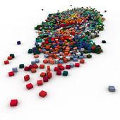 Sacco di blocchi di colore — Foto Stock