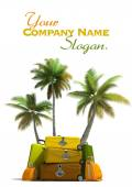 Tropical trip and elegant luggage — Stock Photo