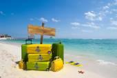 Luggage on the beach — Stock Photo