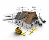 Home construction project — Stock Photo