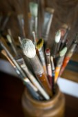 Artysta szczotki — Zdjęcie stockowe