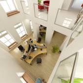 Vista aérea de una oficina de lujosa — Foto de Stock