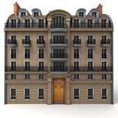 French building rendering — ストック写真
