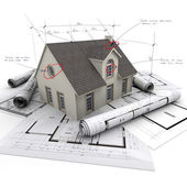 House project technical details — Stock Photo