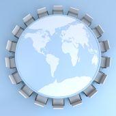 Global board meeting — Stock Photo