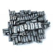 E-reader retro — Стоковое фото