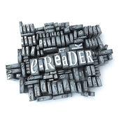 E-reader retro — Stockfoto