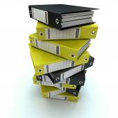 Filing, organizing archives — Stock Photo
