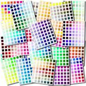 Color swatches collage — Stock Photo