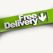 Free delivery diagonal banner — Stock Photo