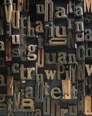 Vintage Wooden letters composition — Stock Photo