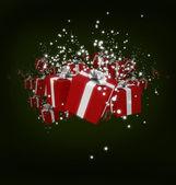 White Christmas presents — Stock Photo
