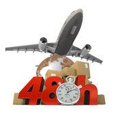 48 Hrs logistics — Stock Photo
