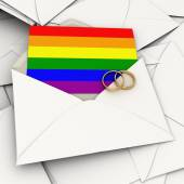 Homosexual marriage invitation — Stock Photo