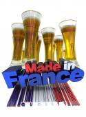 French beer — Foto Stock