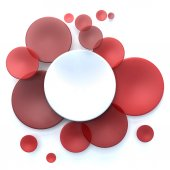 Red and white circle background — Stock Photo