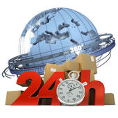 Worldwide delivery in 24 Hrs — Stock Photo