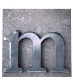 Typescript m  letter — Stock Photo