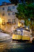 Late night tramway — Stock Photo