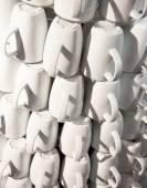 Coffee cups pyramid  — Stock Photo