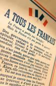 A tous les francais — Stock Photo