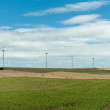 Fields with wind turbines — Stock Photo #65912205