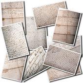 Collage de manuscrito antiguo — Foto de Stock