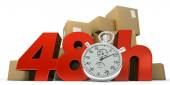 48 hrs guaranteed delivery — Stock Photo